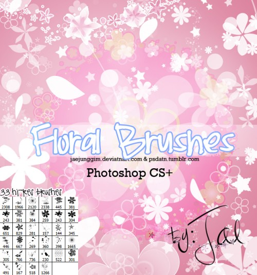 33 Hi-Res Floral Brushes for Free Download