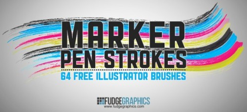 Free Marker Pen Strokes Illustrator Brushes